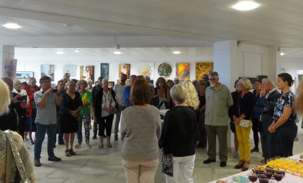 Daniele Dekayser, Annick Vallenet et Emilie Bouffard à l'occasion du Salon de la Peinture et de la Scupture